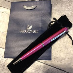 Swarovski Crystal starlight Pen Fuchisia Pink